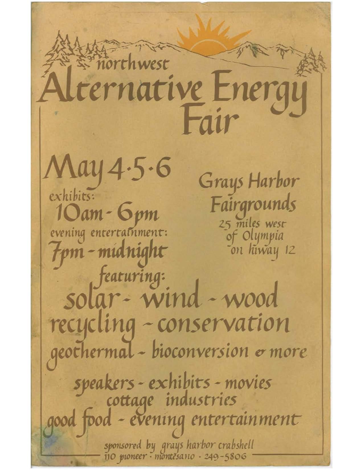Alternative Energy Fair Poster