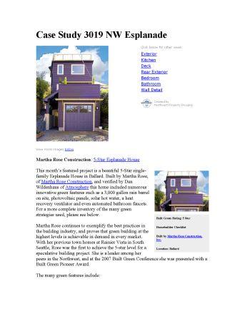 Built Green Case Study: 3019 NW Esplanade, Seattle