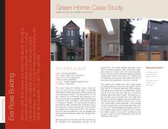 Built Green Case Study: Eva Rose Bulding