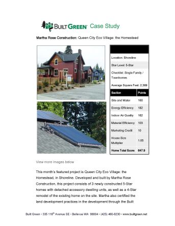Built Green Case Study: Queen City Eco-Village