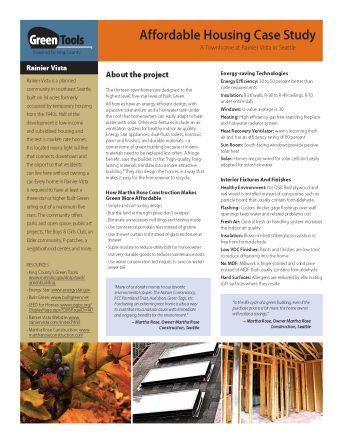 Green Tools Case Study: Rainier Vista Townhome