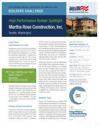 Building America, High Performance Builder Spotlight:  Queen City Eco-Village